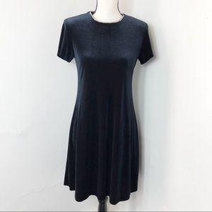 Vintage J. R. Nites Velvet Rhinestone Neck Dress 6